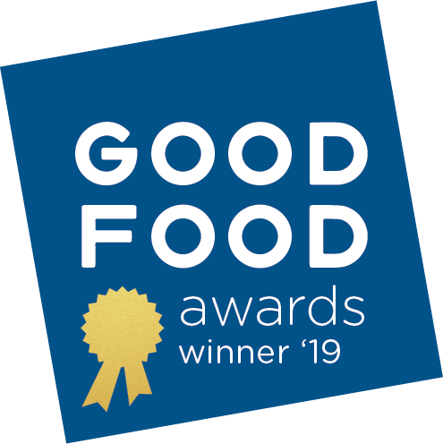 PB Love Co Salty Peanut Nut Butter named a Good Food Awards winner 2019, badge image.