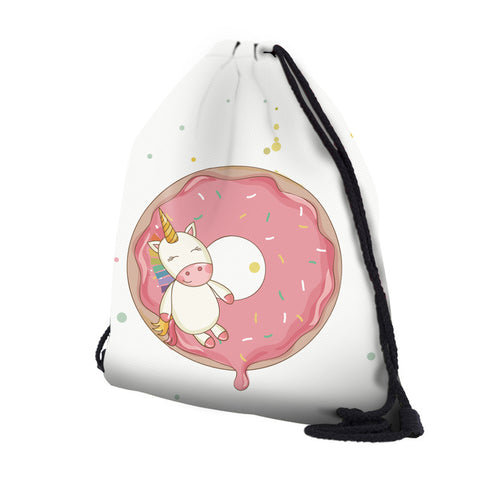 3D Unicorn Drawstring Bag