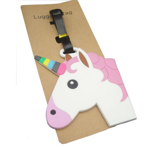 3D Large Unicorn Head Luggage Tag