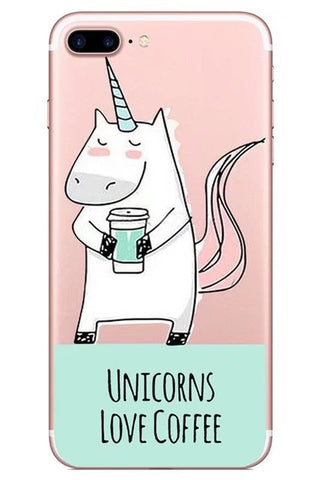 """Unicorns Love Coffee"" Unicorn iPhone case"