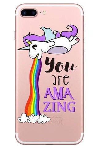 """You are Amazing"" Unicorn iPhone case"