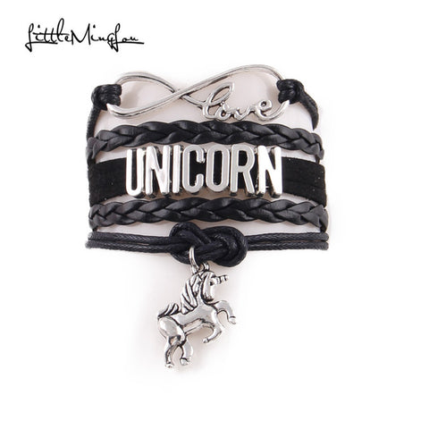 Infinity love Leather Unicorn Bracelet