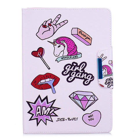 """Girl Gang"" Unicorn iPad Case for iPad Mini 4"