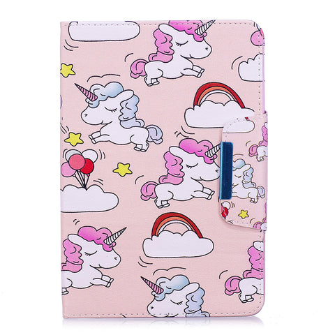 """Unicorns and Rainbows"" Unicorn iPad Case for iPad Mini 4"