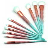 7 piece or 10 piece Unicorn Diamond Makeup Brushes Brush Kit