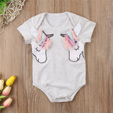 Cute Unicorn Head -  Jumpsuit Long Sleeve Playsuit Onesie