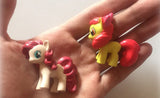 12 piece set of horse/unicorn action toy figures for kids