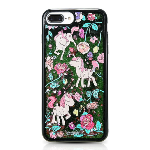 Unicorn and Flowers iPhone case