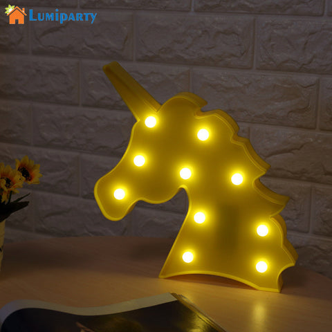 Decorative  3D Unicorn LED Night Light Lamp