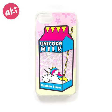 """Unicorn Milk"" Glitter Liquid Unicorn iPhone Case"