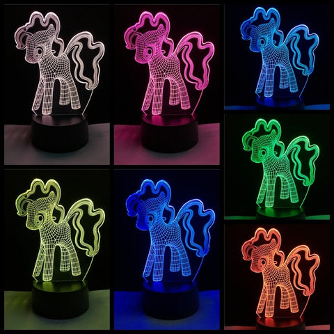 3D Affect – Cute Girlie Unicorn Nightlight