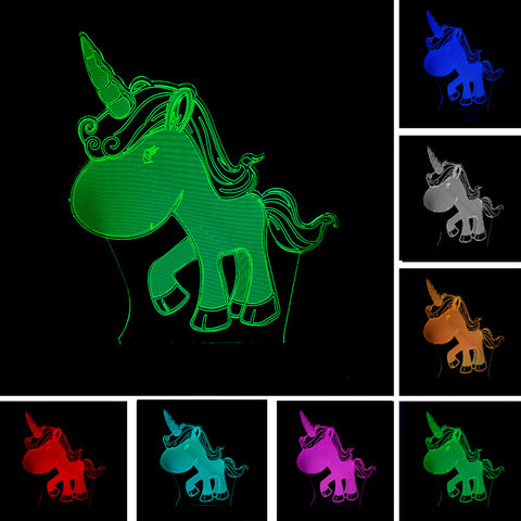3D Affect – Cute Unicorn Nightlight