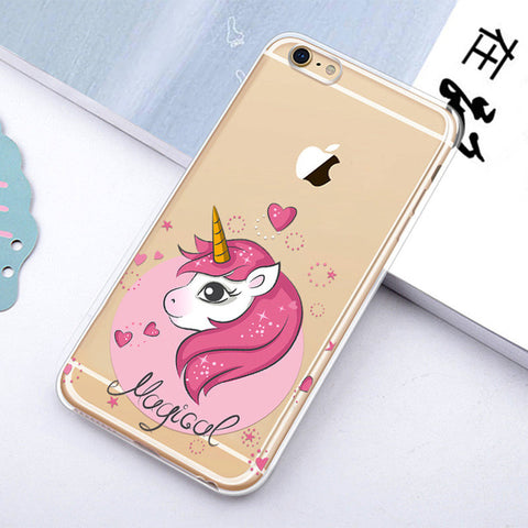Pretty in Pink Soft Unicorn iPhone Case