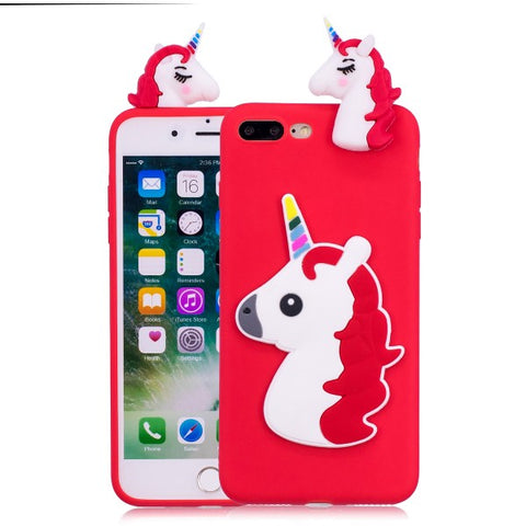Red 3D Unicorn iPhone case
