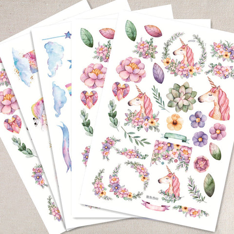 Unicorn Decorative Stickers For Photo Albums or Scrapbooking