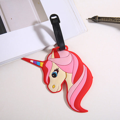 Colourful Unicorn Luggage Tag