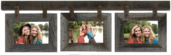 Barn Wood Collage Picture Frame - Wicked Chicken Boutique