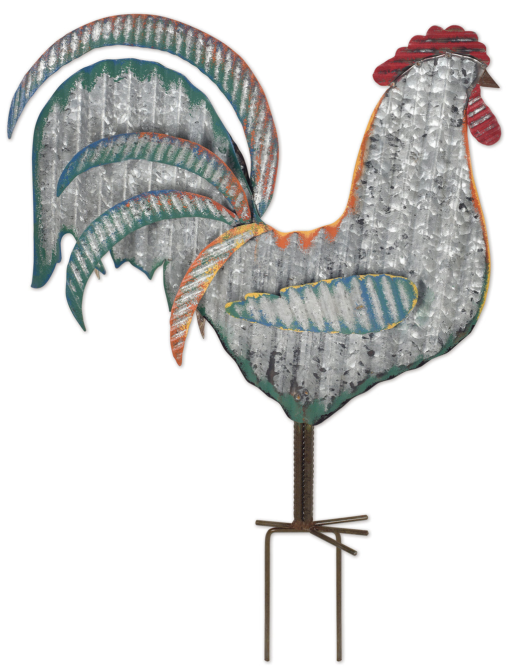 Metal Rooster Garden Stake