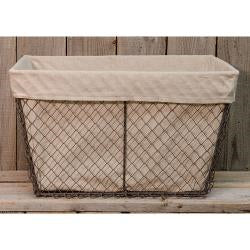 Chicken Wire Basket w/Linen