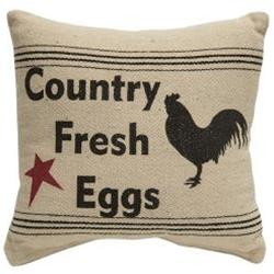 Country Fresh Eggs Throw Pillow- Wicked Chicken Designs