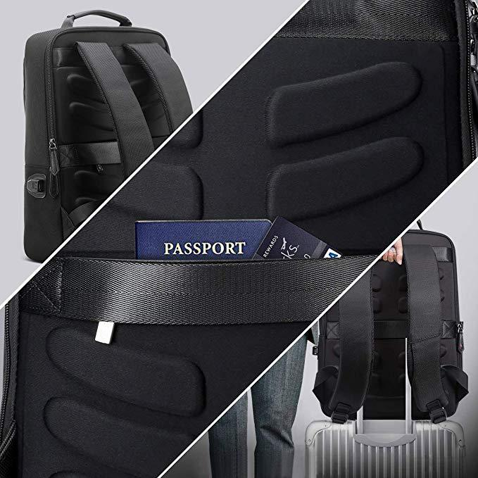 15 inch Laptop Bag USB Charging Port and Anti-Theft Computer Rucksack