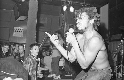 Bad Brains mid-snarl at the streets.