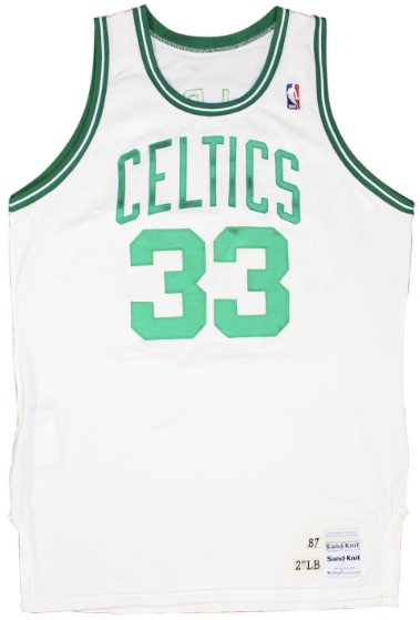 huge discount e1e8e e4992 Larry Bird Game Worn Jersey 1987-88 Boston Celtics
