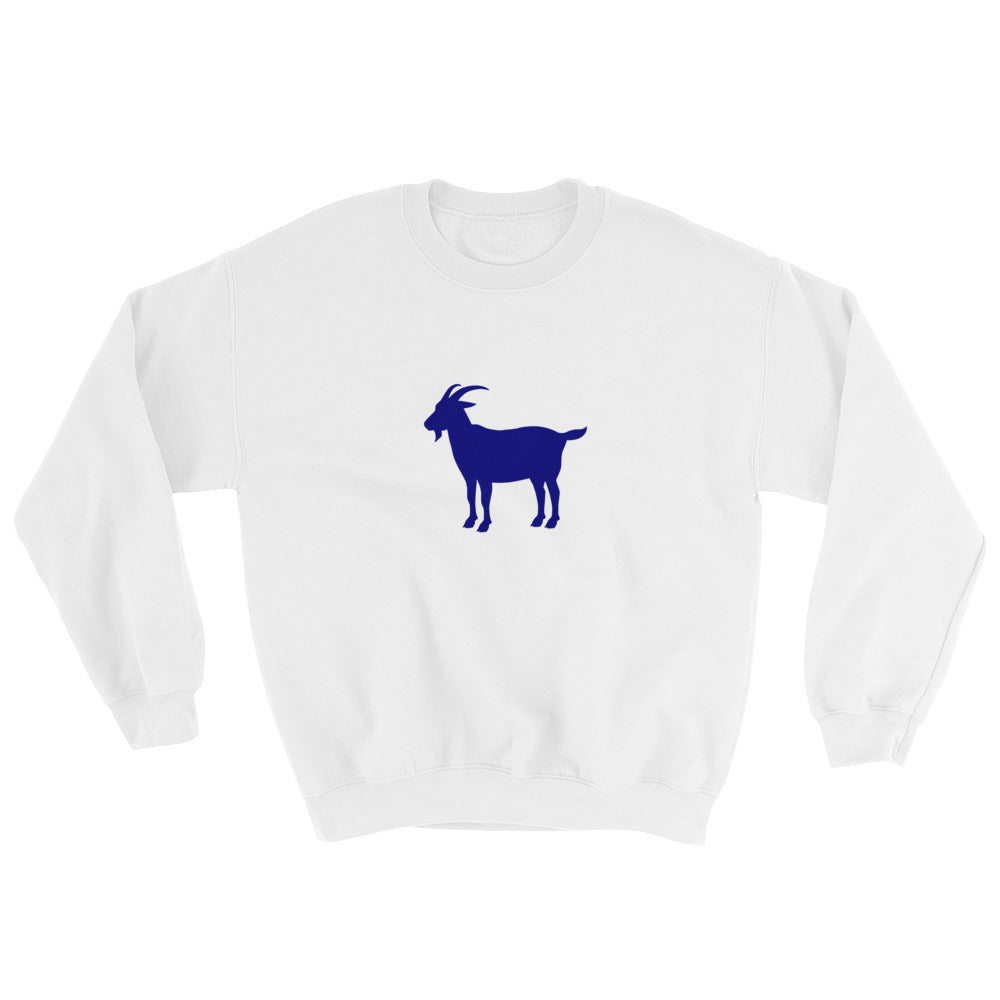 GOAT white sweatshirt