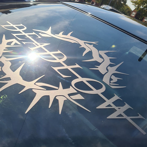 Crown of thorns window sticker