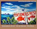 Pensioner's Rest - Oil Painting SOLD