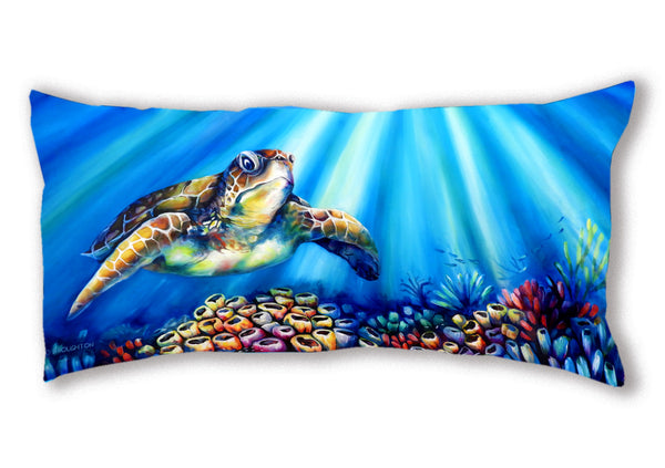 Cushion Cover (Panoramic) Turtle Reef
