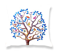 Cushion Cover: Tree of Life (blue)
