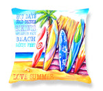 SURF CUSHION COVER - SURFBOARDS WITH TEXT