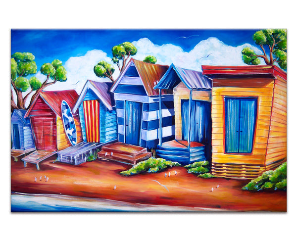 Canvas Print: Bathing Boxes