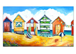 Canvas Print - Beach Huts
