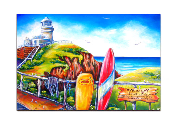 Canvas Print: Byron Lighthouse (Rectangle)