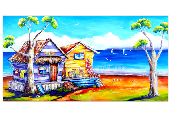 Canvas Print - Summer Shacks