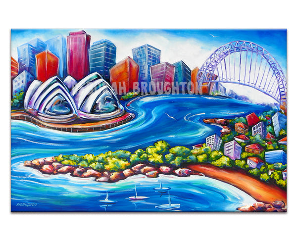 Canvas Print: Sydney Harbour (Rectangle)