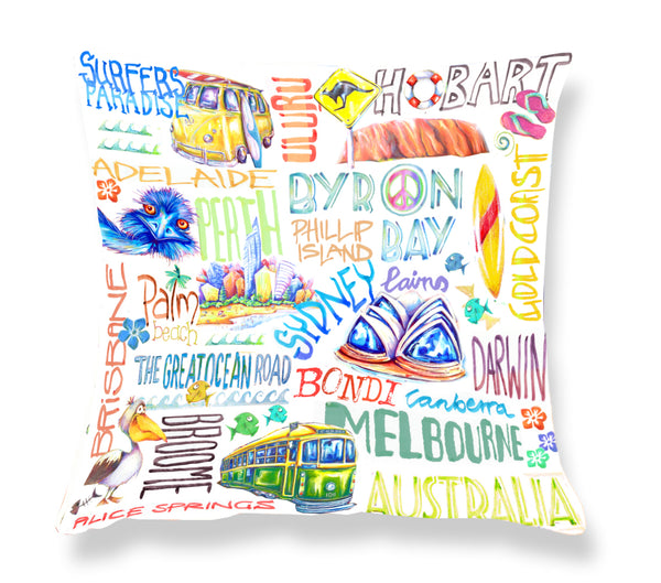 Cushion Cover: Around Australia