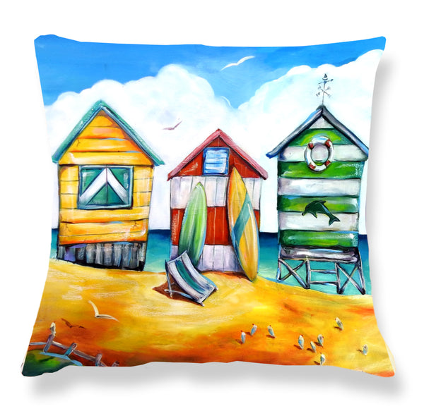 Cushion Cover - Beach Huts