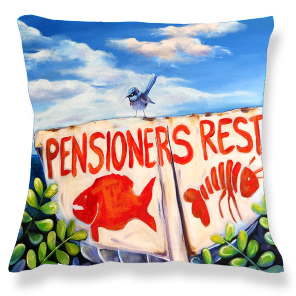 Cushion Cover:  Pensioners Rest