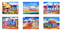Set of 6 Surf Placemats