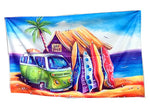 Beach Towel: Greenie