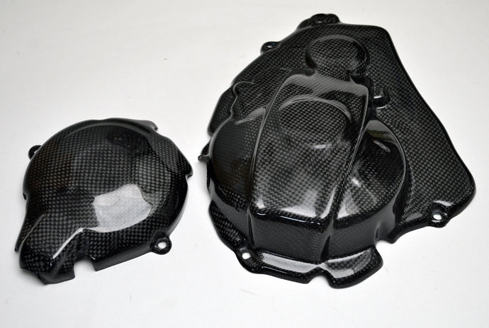 Suzuki GSX-R 1000 2017 - 2018 Carbon Fiber Engine Covers - Warrior Racing Parts