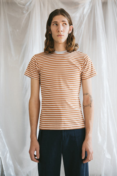 Richmond Tshirt - Cocoa Stripe