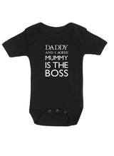 Daddy and I agree, Mommy is the Boss