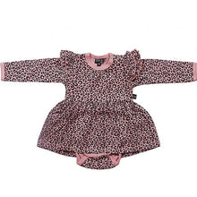 Kids up - Kjole body leopart print m/blonde