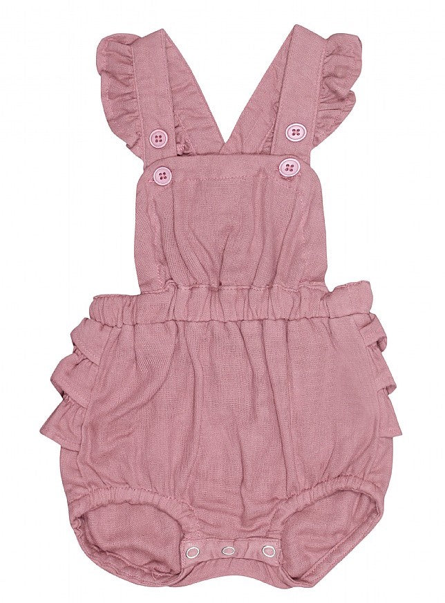 Kids up overalls/shorts blommefarvet