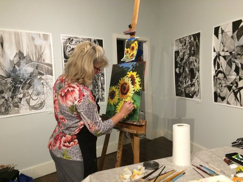 6 WEEK ACRYLIC PAINTING CLASS WITH SUSAN ROSENSTONE LARROW