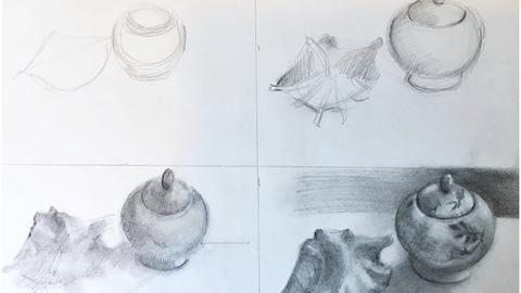 4 Week Drawing Class with Anita Loomis Mon. 1/14- 2/4 6:30PM-9:30PM